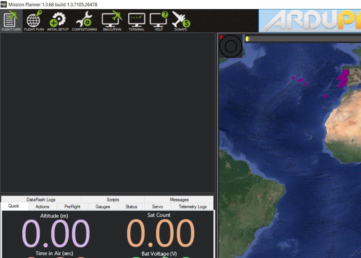 Mission Planner HUD blank 1 3 68 on Windows 10, version 1803