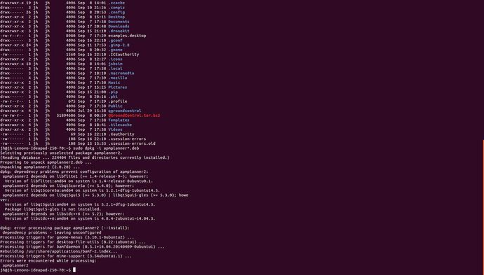 APM Planner install on linux ubuntu14 - dpkg dependency