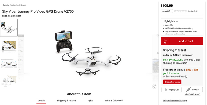 Sky Viper Journey Pro Video GPS Drone V2700 -It's HERE
