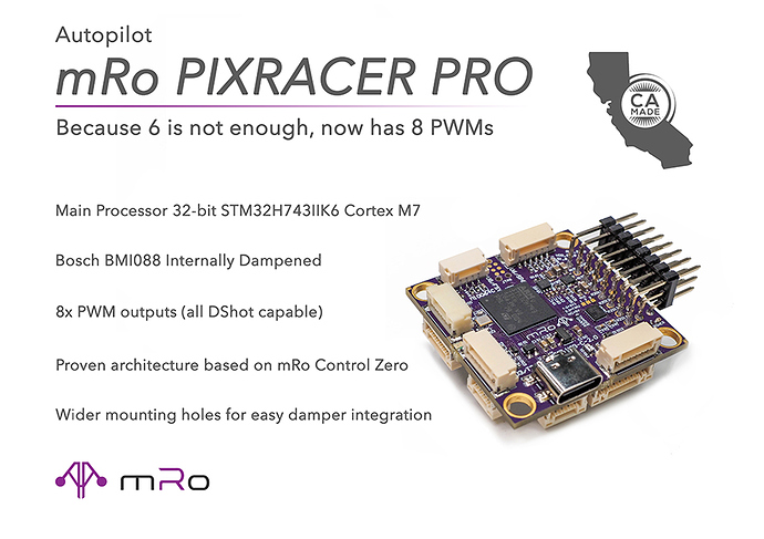 Pixracer Pro Ad Basic SpecsLowRes
