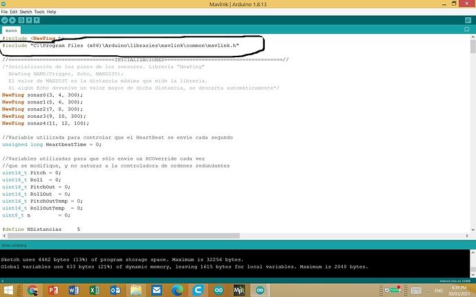 Mavlink code copiled