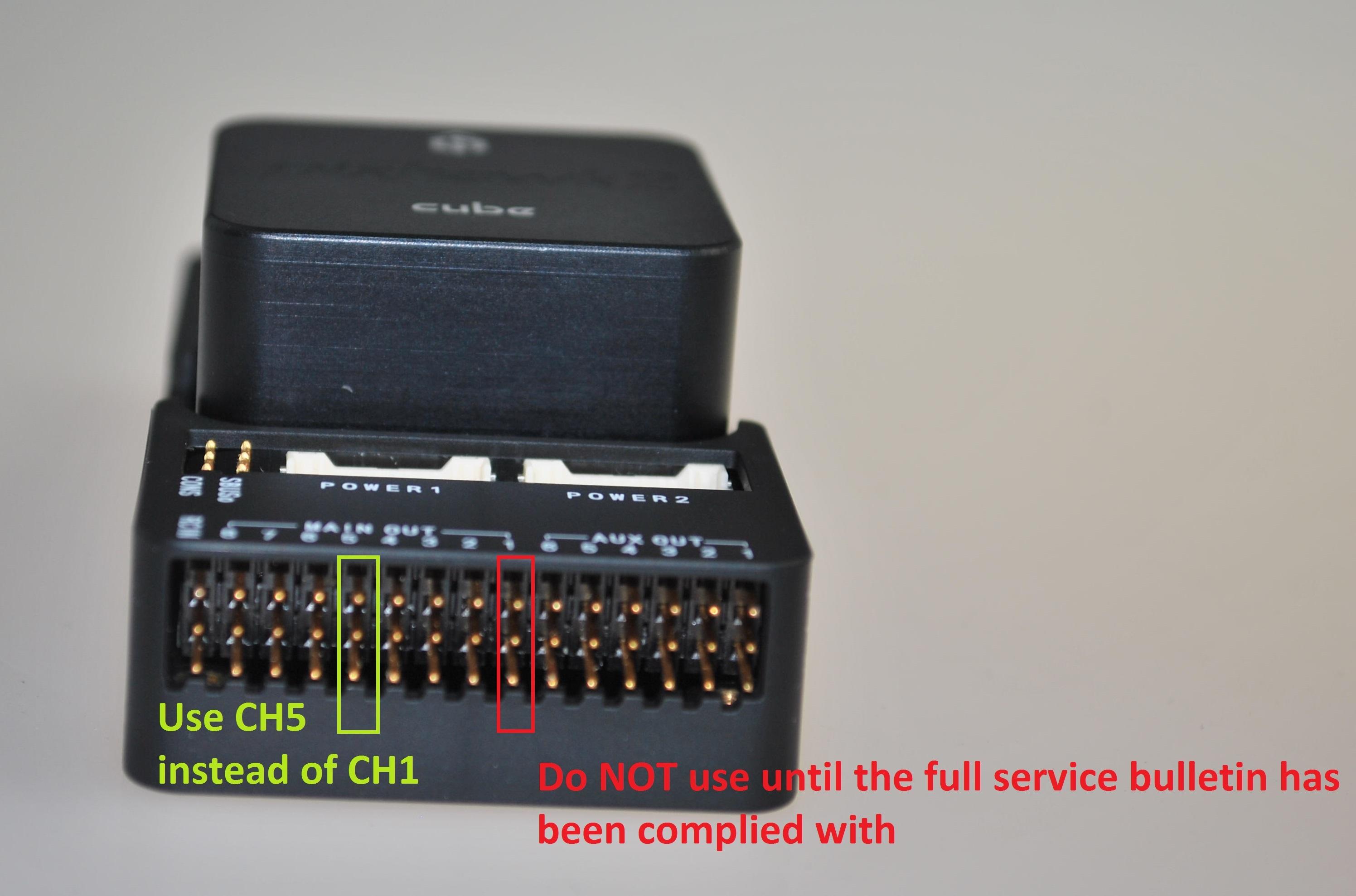 SB_0000001 Critical service bulletin for Beta Cube 2 1 - Pixhawk 2