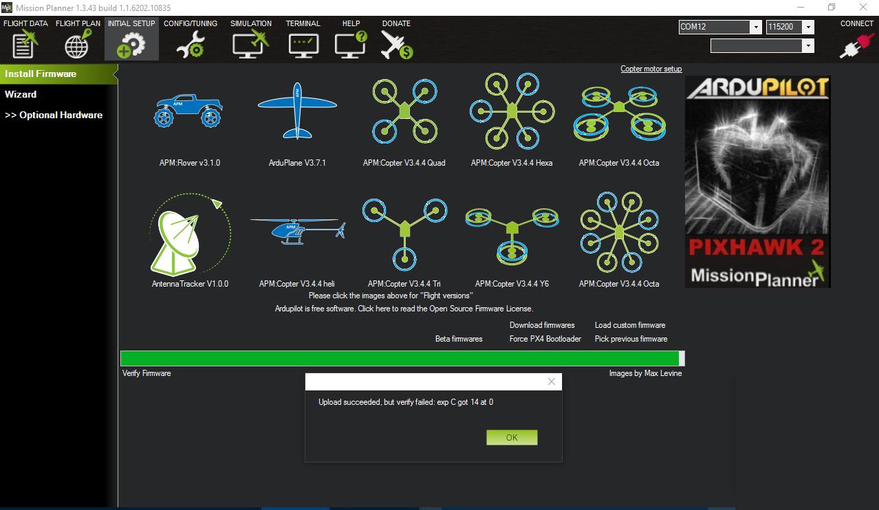 Apm 252 Firmware Verification Error Plane 33 Ardupilot Discourse