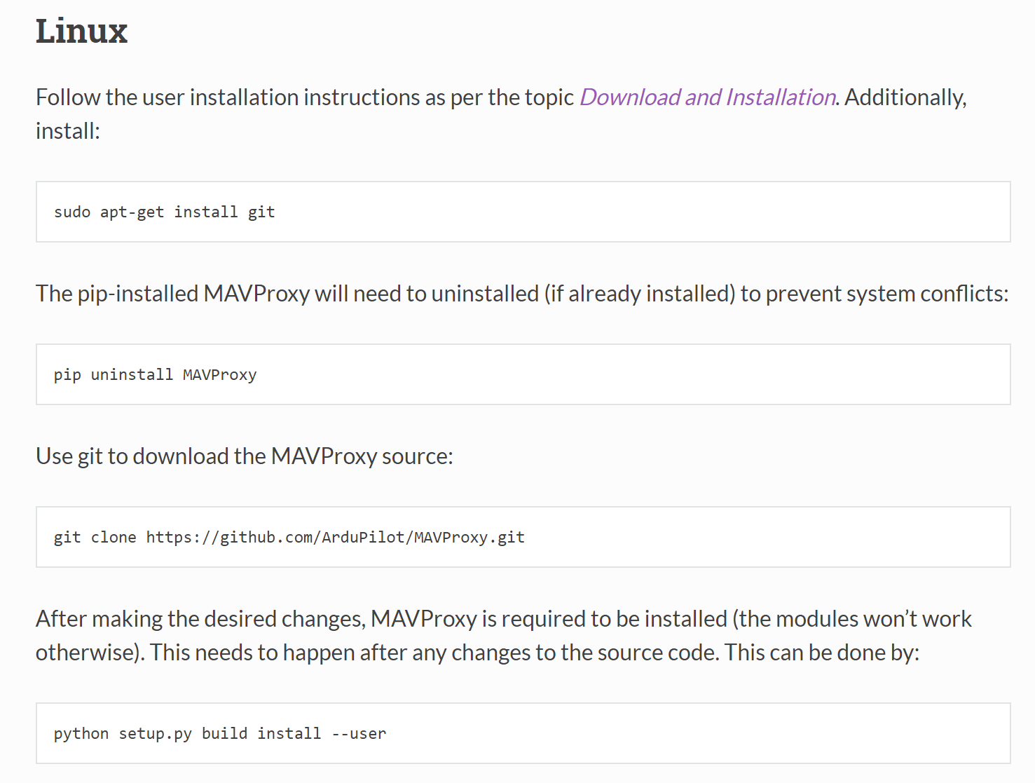MAVProxy will not execute on linux - MAVProxy - ArduPilot Discourse