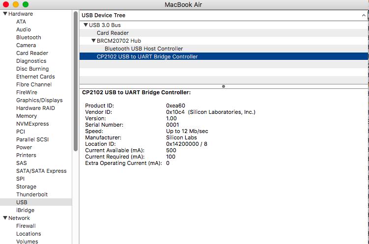 Mac Error: Cannot open serial port, please make sure you