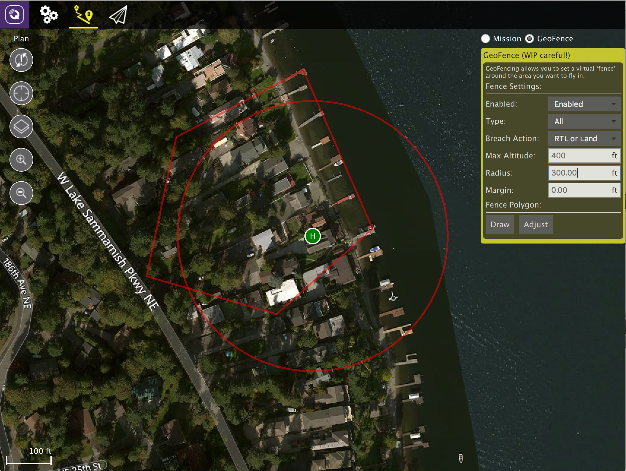 Announcing ArduPlane/Copter GeoFence support in QGroundControl