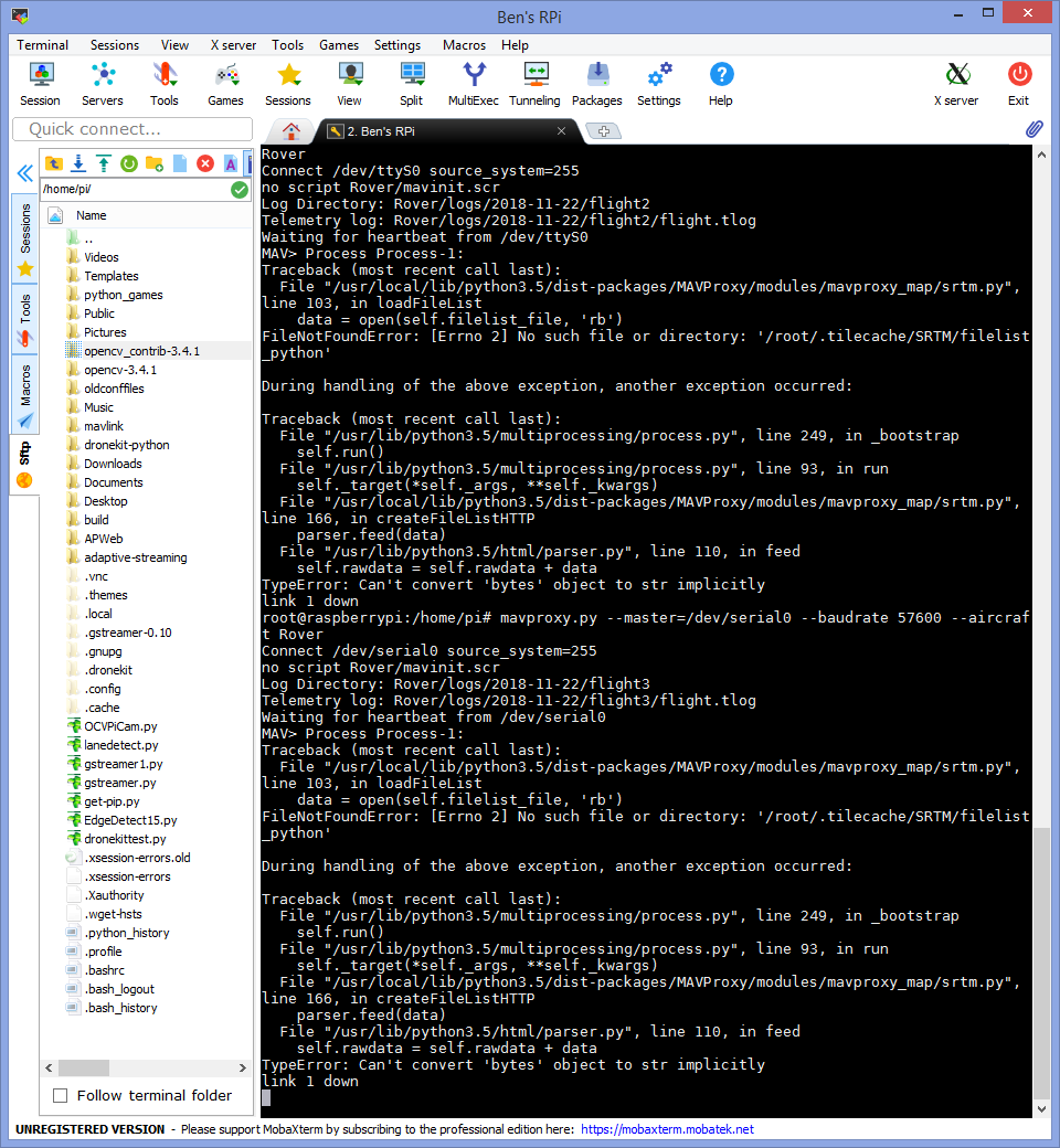 Dronekit-python from Raspberry Pi to Pixhawk - Companion Computers