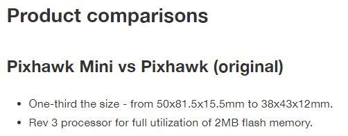 Pixhawk mini