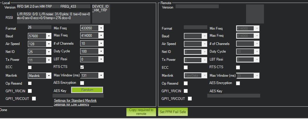 Sik-radio-settings