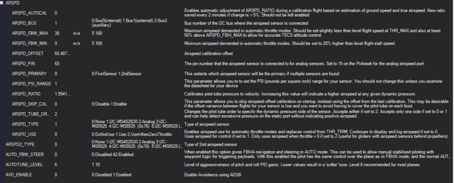 mRo I2C MS4525DO Digital airspeed sensor not working - Plane