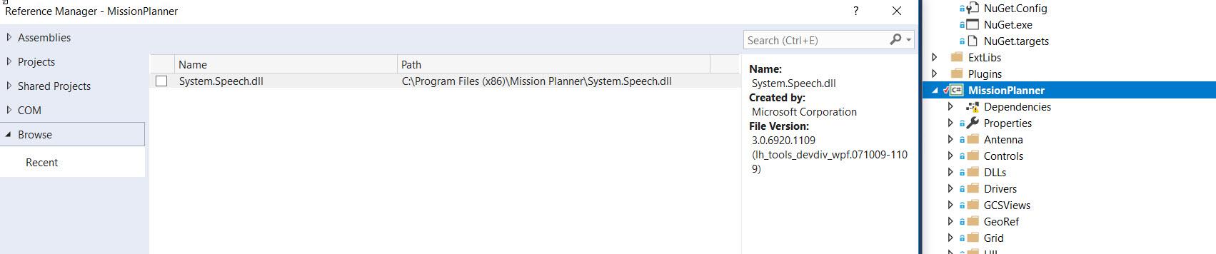 Compiling Mission Planner - Visual Studio Error Code CS1061