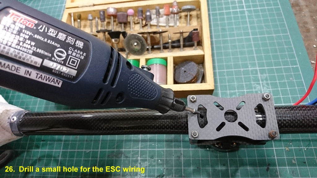 Nimbus 1800 Tri-vtol Rear Motor Wiring
