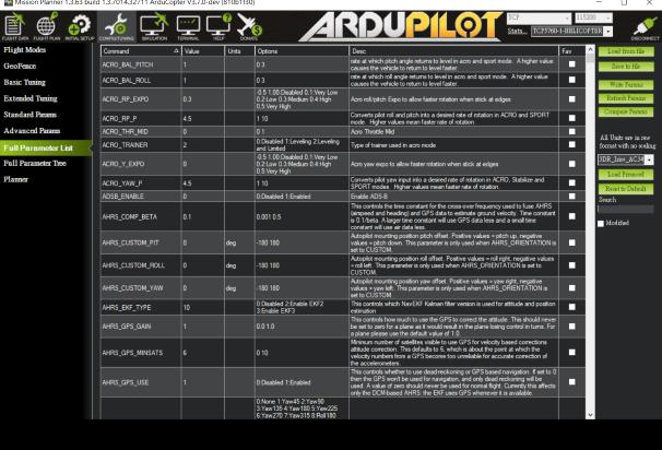Xplane10 with mission planner use raptor 30 v2 Module cant
