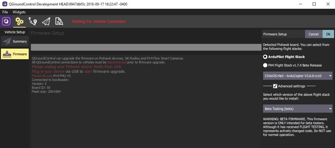 Error 404 when getting firmware - Mission Planner