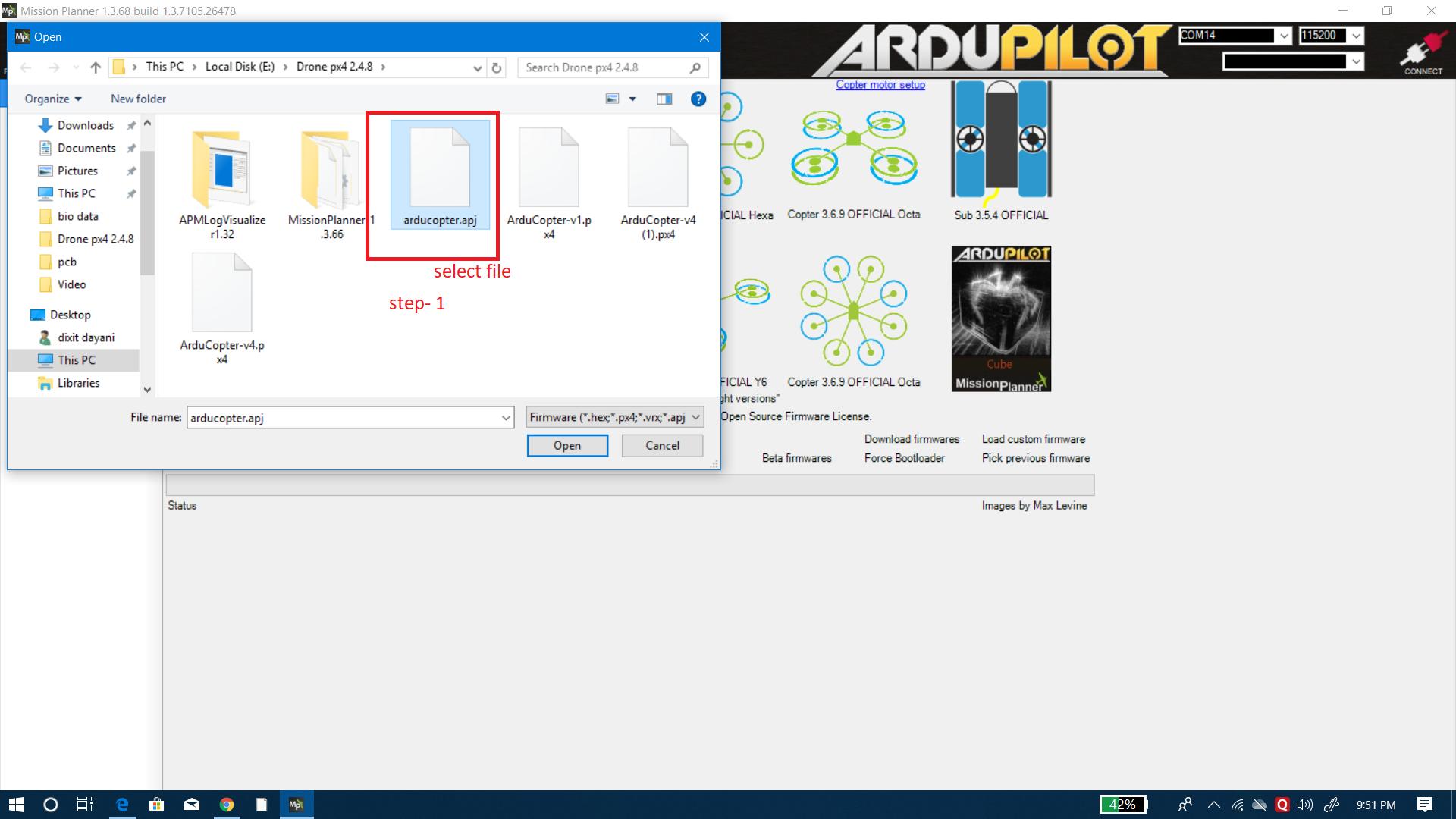PixHawk Upload Firmware Error - Pixhawk family - ArduPilot