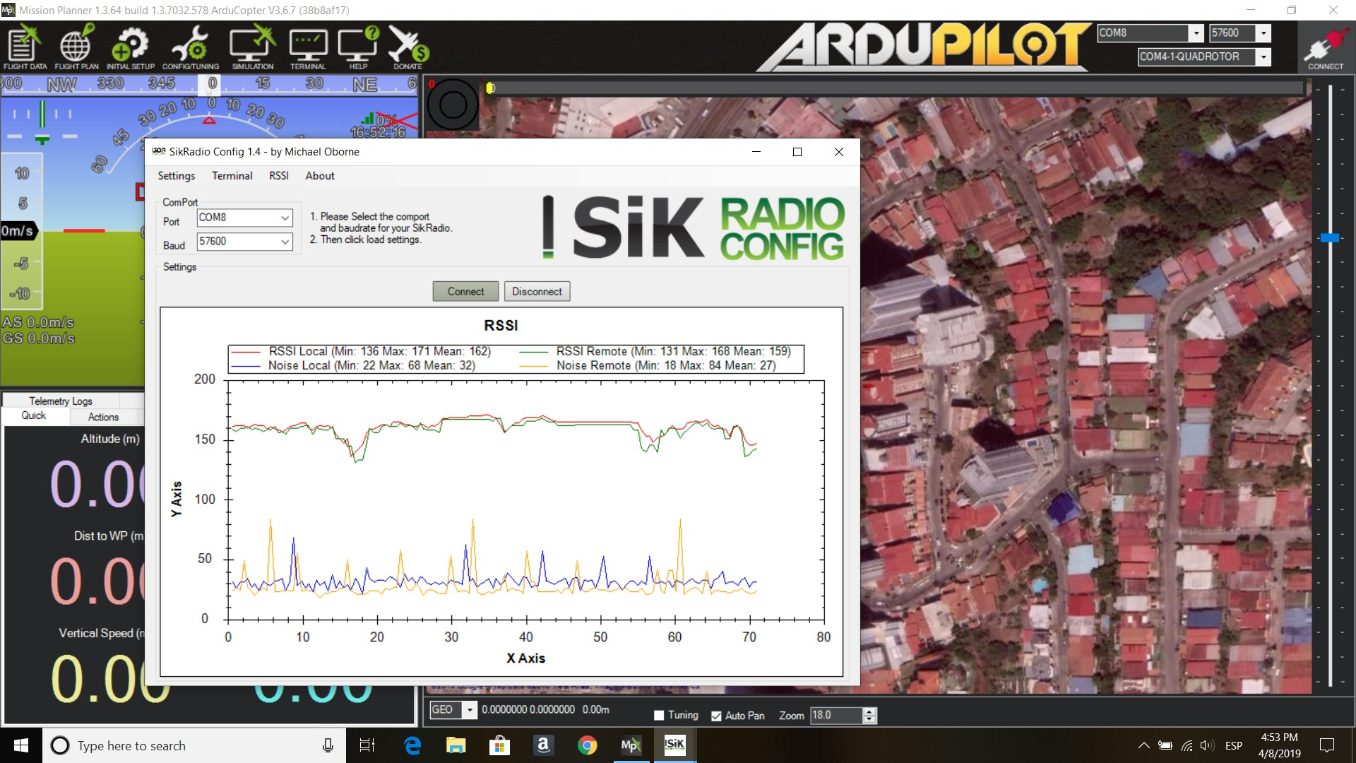 Sik Radio is not connecting through mission planner - Radios